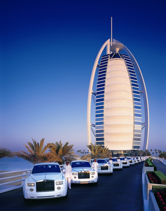 Burj Al Arab - Fleet of Rolls- Royce Phantoms