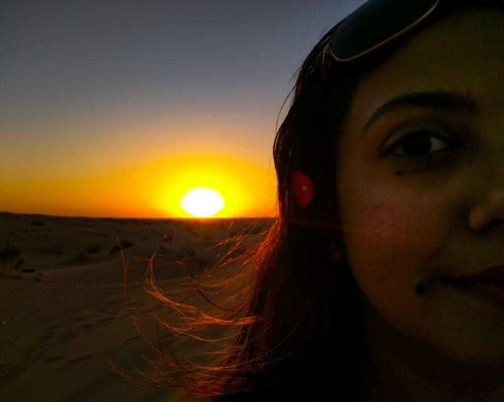 dhanya-sunset-portrait