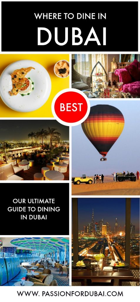 Whether you want to have a romantic dinner in Dubai, spectacular views or a simple afternoon tea – there is nothing you won't find in the city.