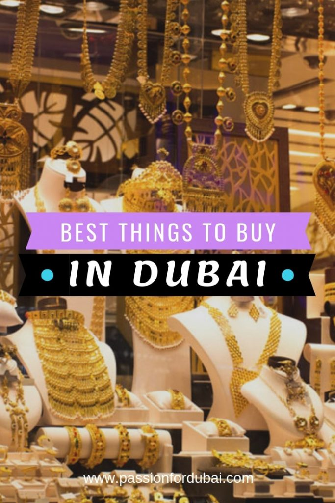 Apart from the obvious things you can buy (international stores, local boutiques, and tech), there are plenty of Dubai-centric things you can buy from there that will be the perfect souvenir to take back home.